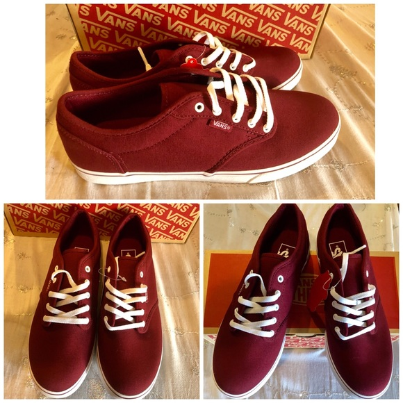 6442bf7558 NEW IN BOX VANS ATWOOD LOW IN BURGANDY